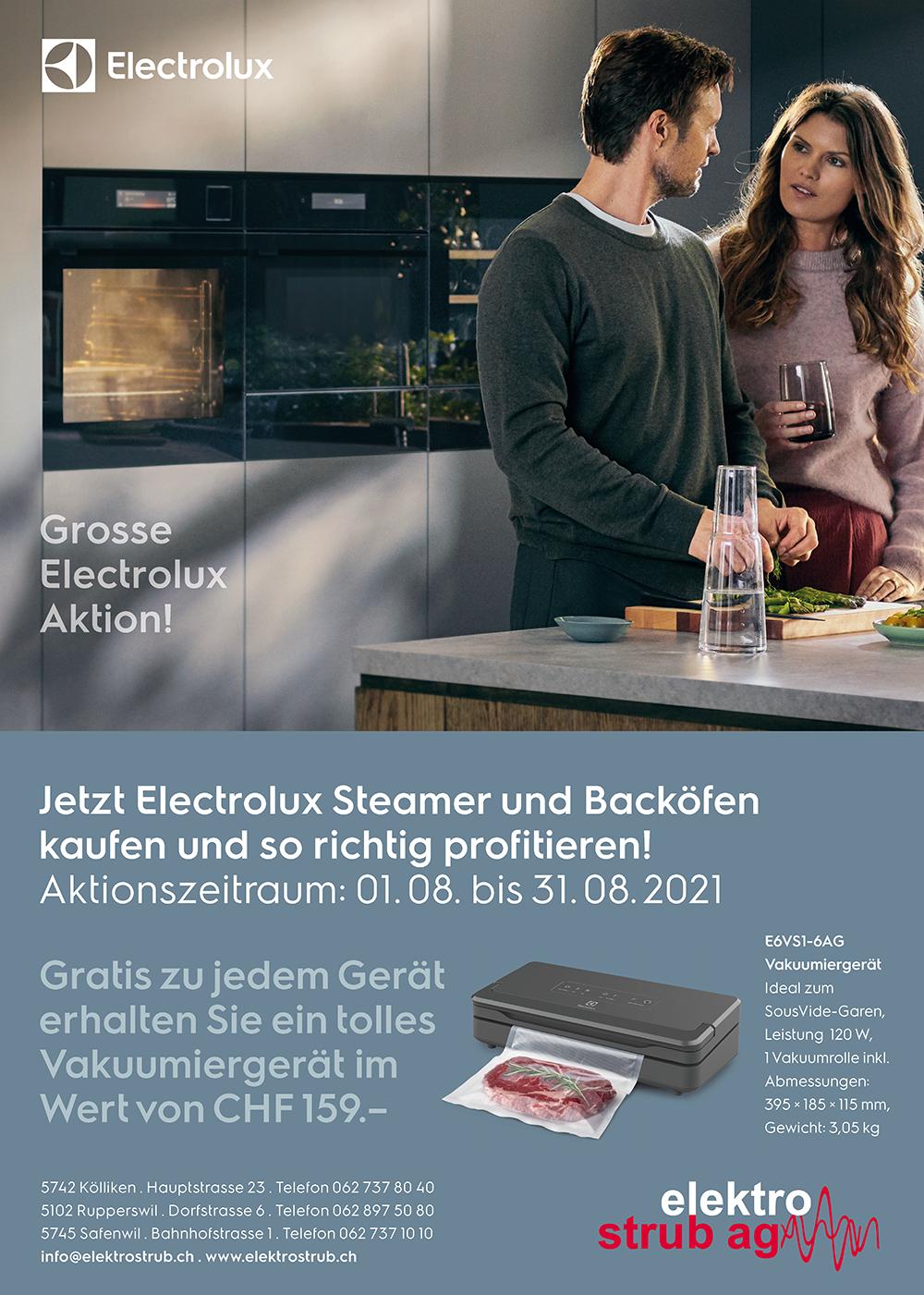 Aktion auf Steamer und Backöfen von Electrolux